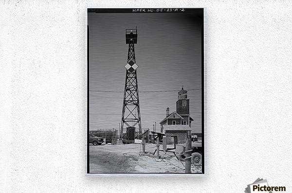 Mispillion-Beacon-Lighthouse-Delaware  Metal print