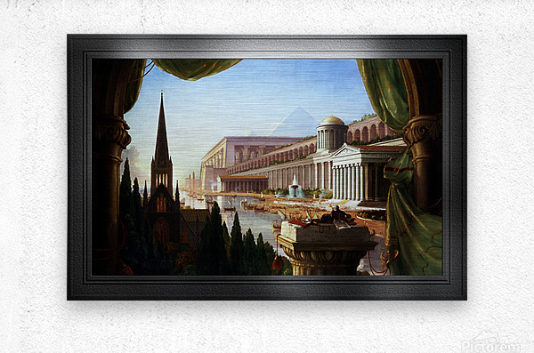 Architects Dream by Thomas Cole Classical Fine Art Xzendor7 Old Masters Reproductions  Metal print