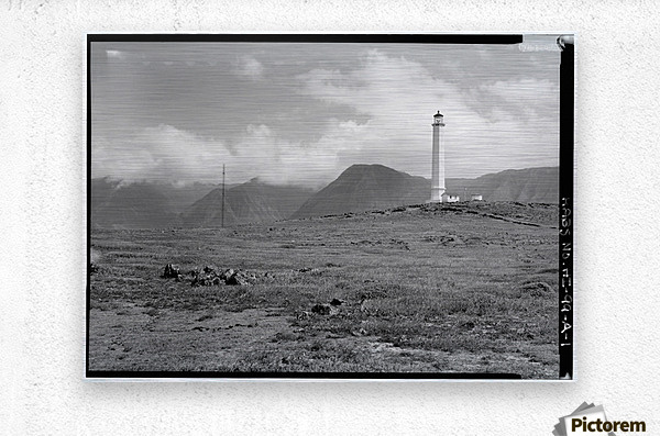 Molokai-Light-Station-HI  Metal print