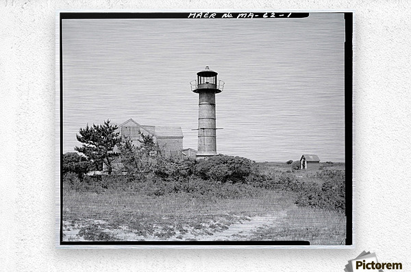 Monomoy-Point-Light-Station-Mass  Metal print
