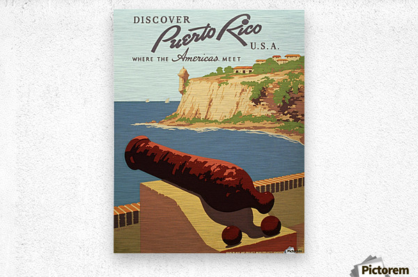 Discover Puerto Rico USA travel poster  Metal print