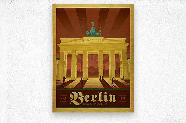 Berlin Germany travel poster  Metal print