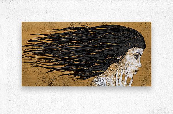 Precious Metals - Concept Art 1 - Gold  Metal print