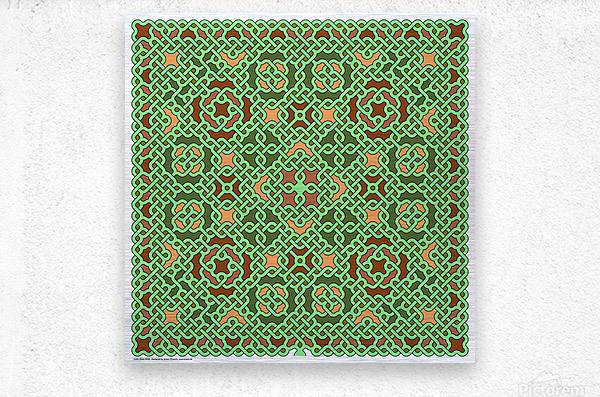 Celtic Maze 5028  Metal print