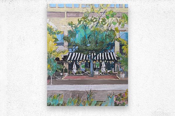 Street Cafe Downtown Baltimore  Metal print