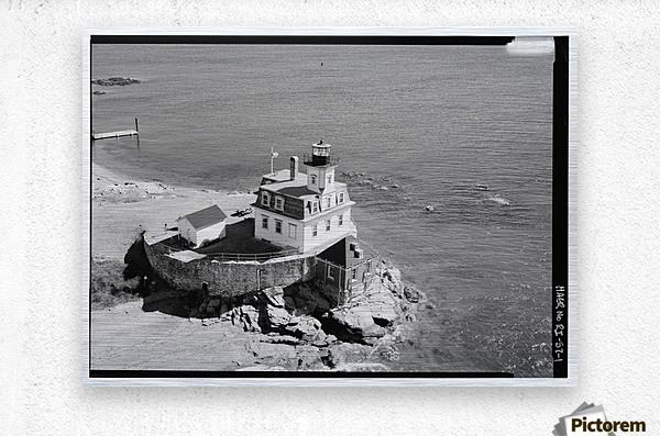 Rose-Island-Lighthouse-Rhode-Island  Metal print