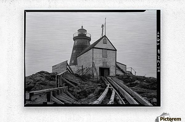Saddleback-Ledge-Lighthouse-Maine  Metal print