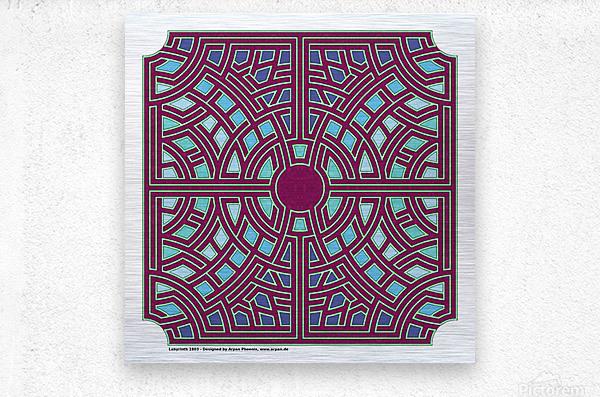 Labyrinth 1803  Metal print