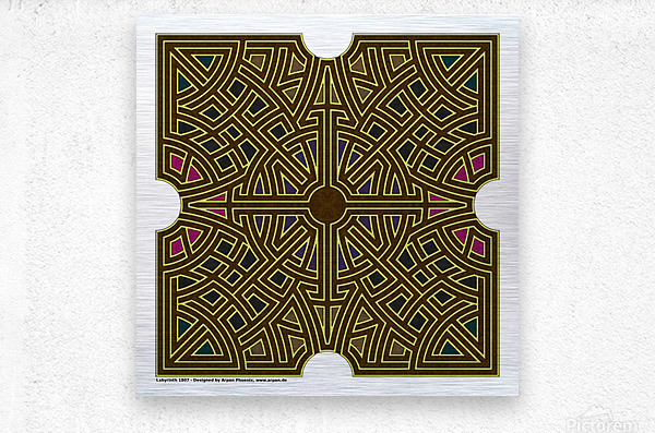 Labyrinth 1807  Metal print