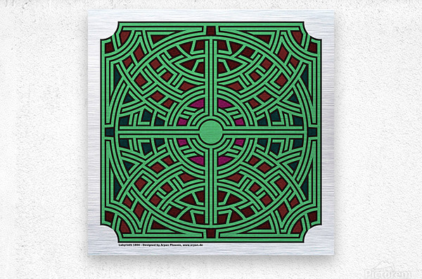 Labyrinth 1804  Metal print