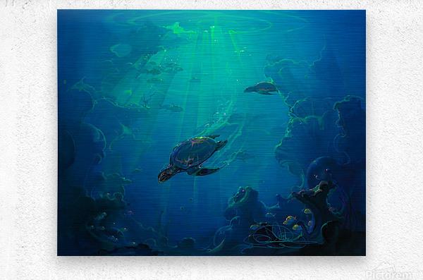Turtle Canyon  Metal print