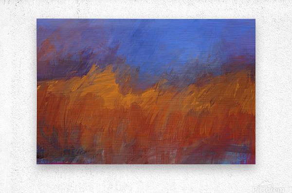 Orange and Blue Landscape  Metal print