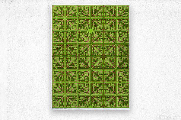 Labyrinth 3607  Metal print