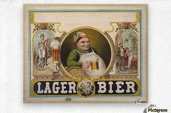 Lager Bier Vintage Poster  Metal print