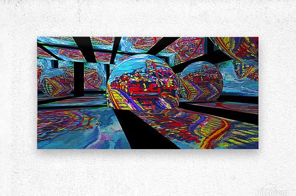 EXTREME Roller Coaster RoomXpander tm Tracking Art  Metal print