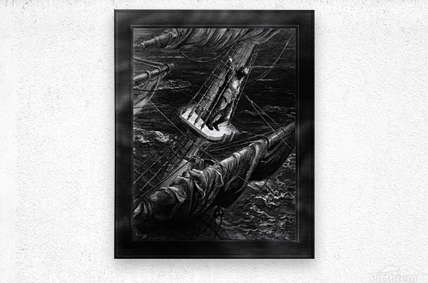 I Had Done a Hellish Thing by Gustave Dore Classical Fine Art Xzendor7 Old Masters Reproductions  Metal print