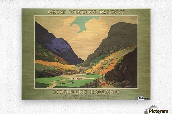 Southern Ireland Great Western Railway 1931 Vintage Travel Poster  Metal print