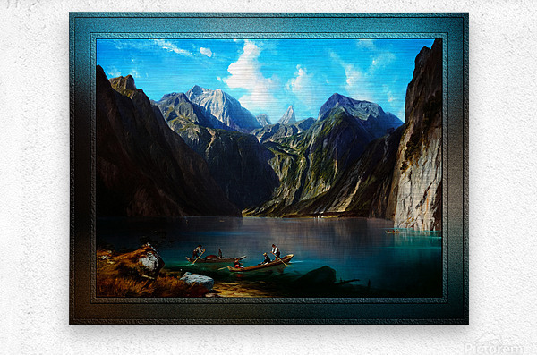Konigsee c1873 by Willibald Wex Classical Fine Art Xzendor7 Old Masters Reproductions  Metal print