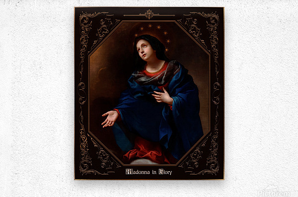 Madonna in Glory by Carlo Dolci Classical Art Xzendor7 Old Masters Reproductions  Metal print