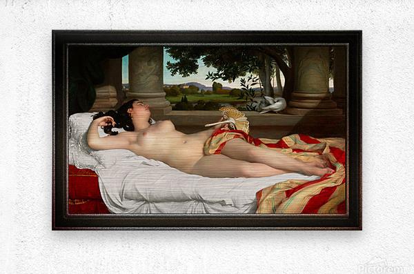 Romaine Endormie by Felix-Auguste Clement Classical Fine Art Xzendor7 Old Masters Reproductions  Metal print