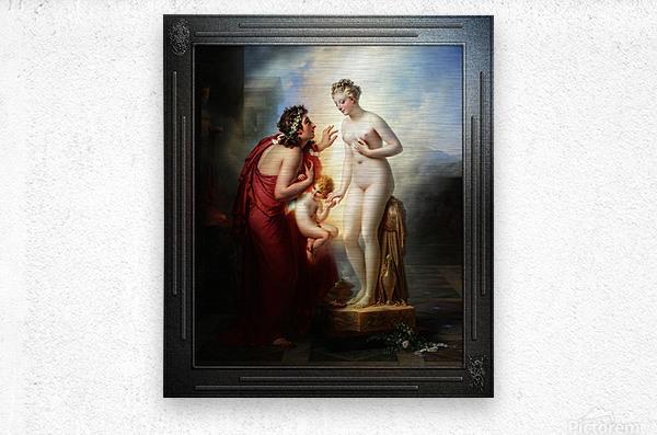 Pygmalion et Galatee byAnne-Louis Girodet-Trioson Classical Fine Art Xzendor7 Old Masters Reproductions  Metal print