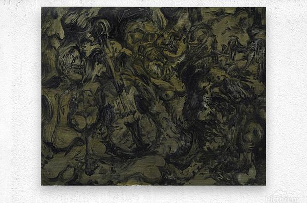 The Arts: Pareidolia  Metal print