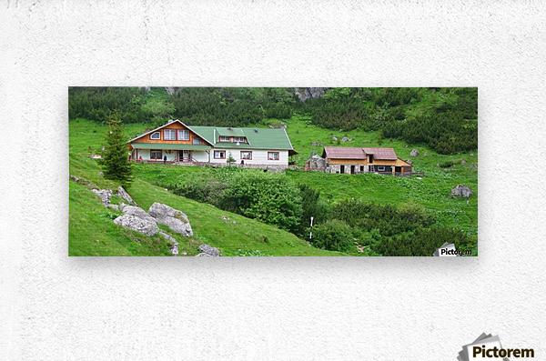 Malaiesti cabin in Romania  Metal print