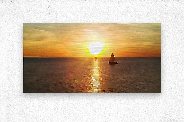 Pierce Anderson Sail Boats Art  Metal print