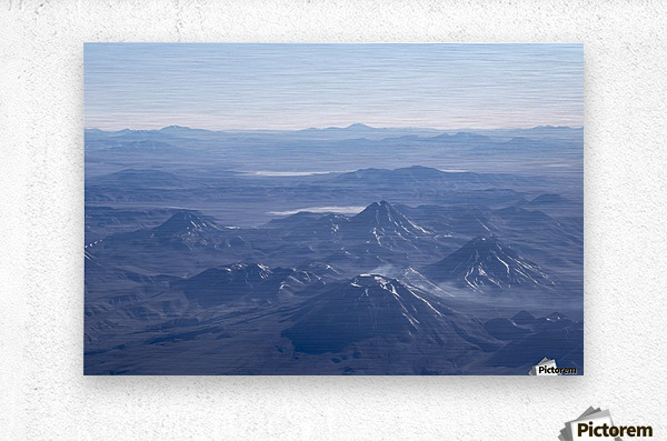 Window Plane View of Andes Mountains  Metal print
