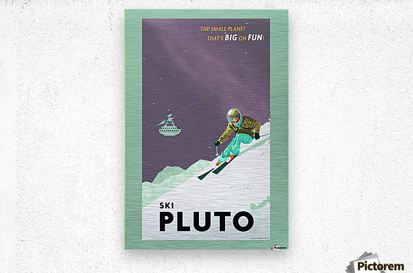 Ski Pluto poster  Metal print