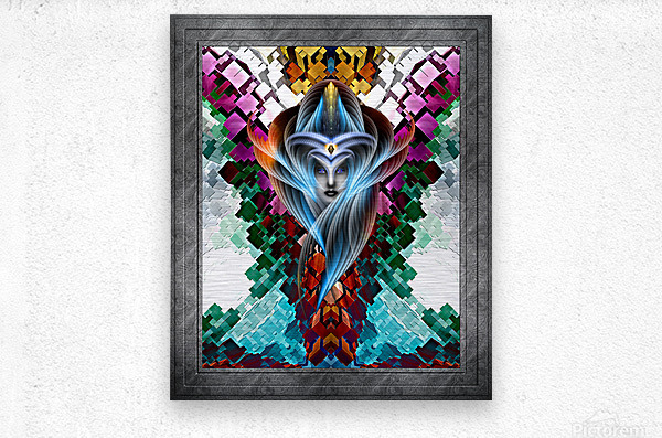 What Dreams Are Made Of GeomatCLR WQ FRAME Fractal Art Cuboid Portrait  Metal print