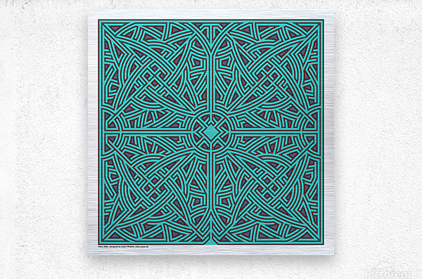 Maze 2896  Metal print