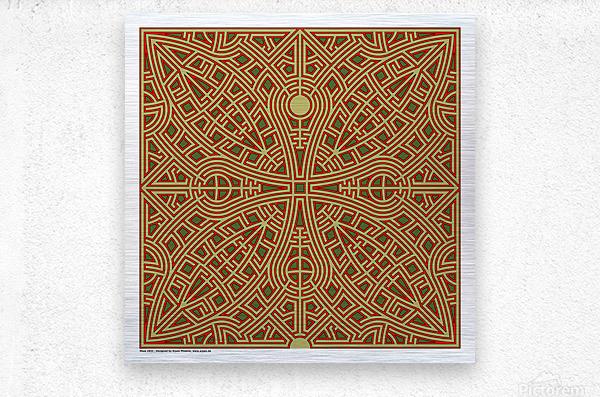 Maze 2832  Metal print
