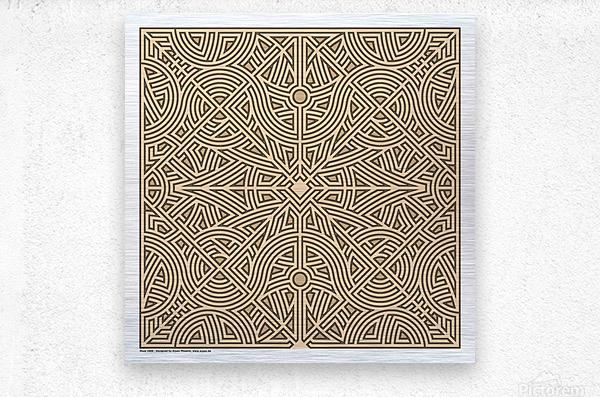 Maze 2888  Metal print