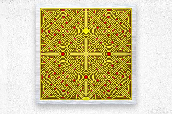 Maze 2816  Metal print