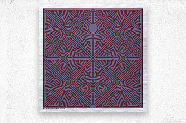 Maze 2863  Metal print