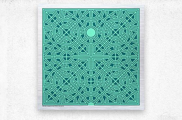 Maze 2835  Metal print