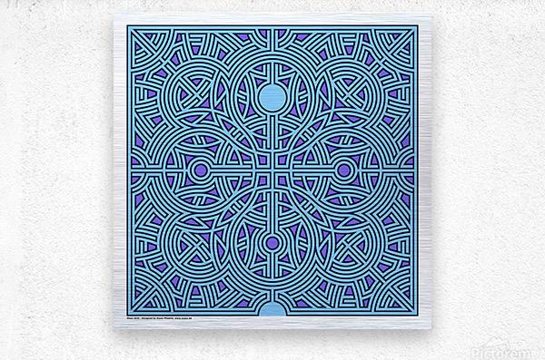 Maze 2839  Metal print