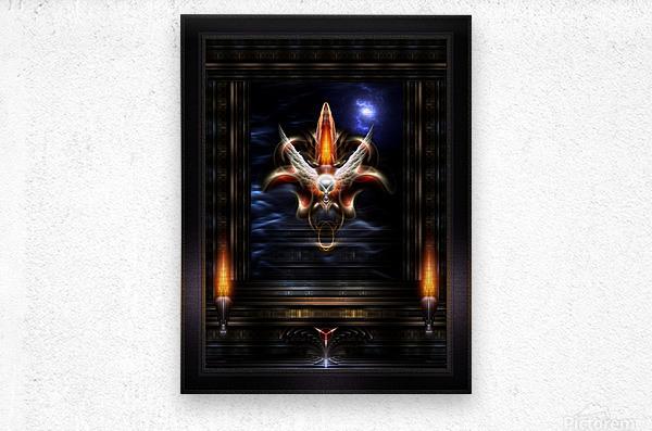 Akrellian Torch Fire Portrait Fractal Art Composition by Xzendor7  Metal print