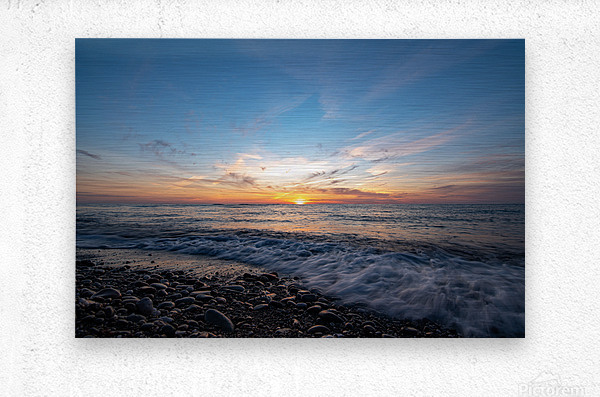 Washed by a Sunset  Metal print