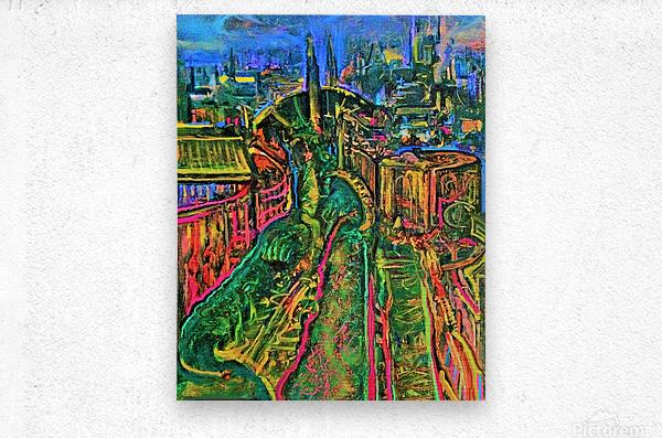 Vegetarian City Art Print  Metal print