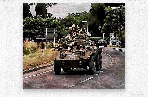 Six Wheeled Armoured Vehicle  Metal print