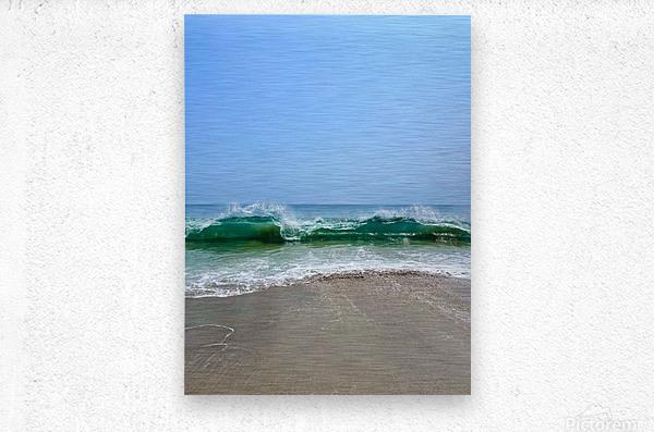 Crashing Waves - Malibu CA  Metal print
