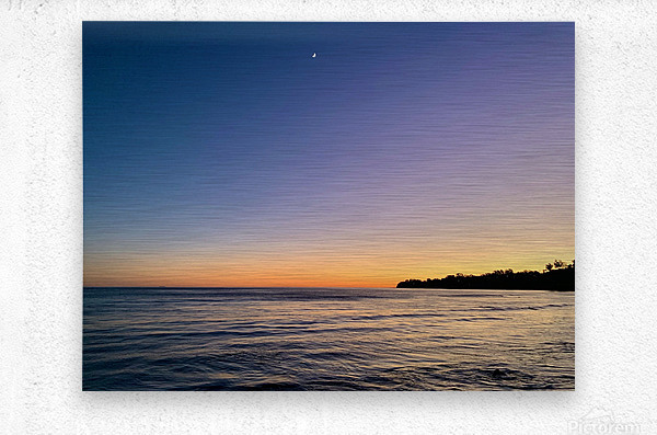 Sunset Moon - Malibu CA  Metal print