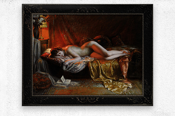 Just Finishing Reading A Novel by Delphin Enjolras Classical Art Xzendor7 Old Masters Reproductions  Metal print