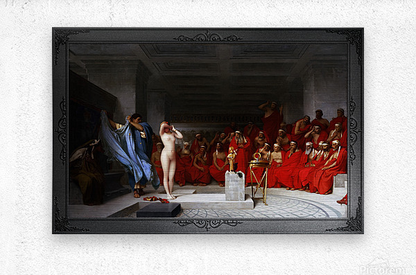 Phryne Revealed Before The Areopagus by Jean-Leon Gerome Classical Fine Art Xzendor7 Old Masters Reproductions  Metal print