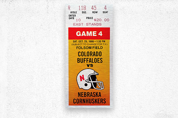 1986 Colorado Buffaloes vs. Nebraska Cornhuskers  Metal print