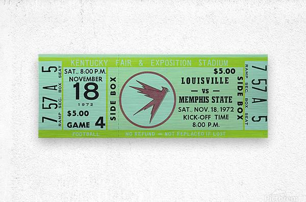 1972 Louisville Cardinals vs. Memphis State Tigers  Metal print