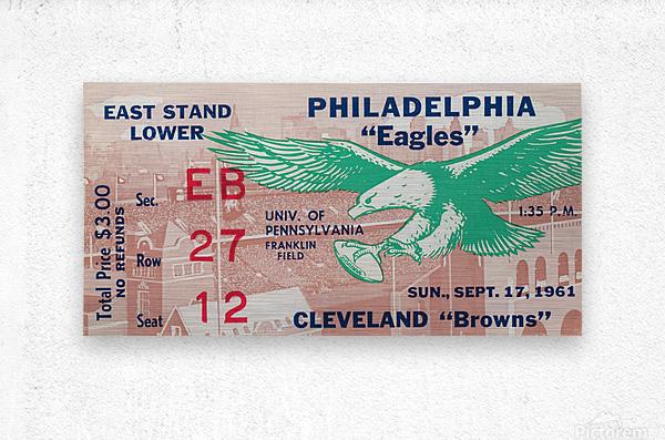1961 Philadelphia Eagles vs. Cleveland Browns   Metal print