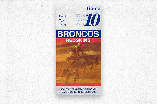 1986 Denver Broncos vs. Washington   Metal print